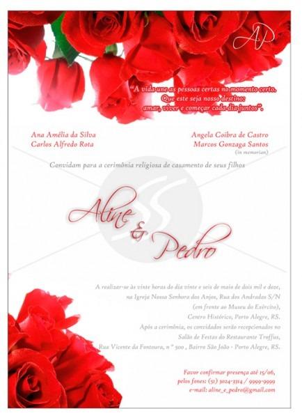 Convites Para Casamento M1704