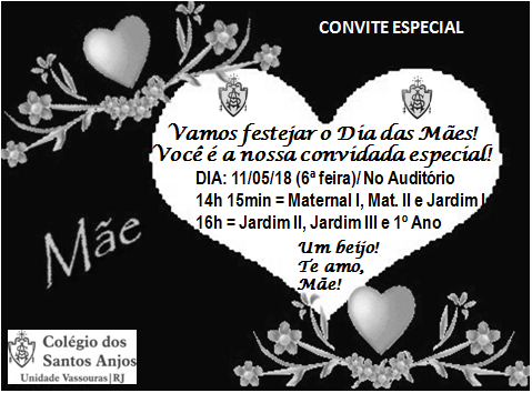 Convite Dia Das Mães – Educação Infantil – Colégio Dos Santos