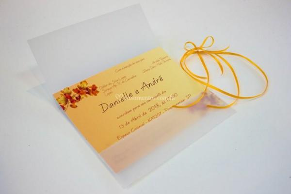 Convite Envelope Papel Vegetal De Ateliê Arte E Afins