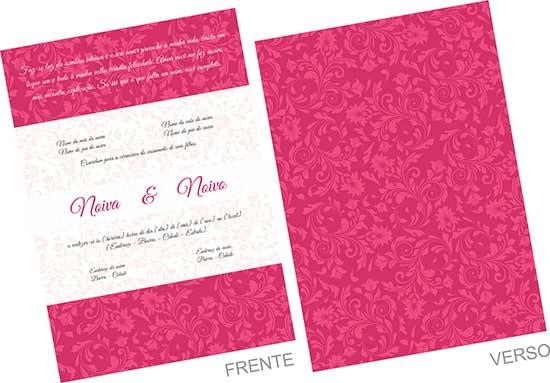 Modelo De Convite De Casamento Com Florais (corel Draw)