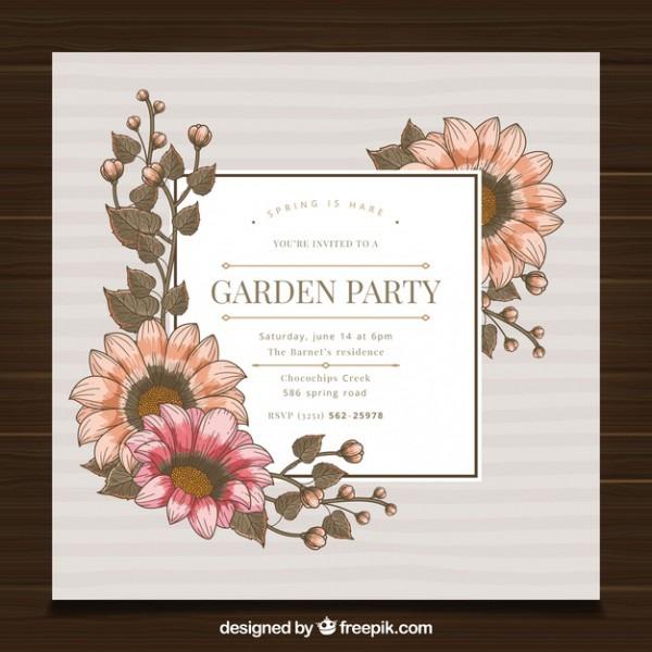 Modelo De Convite De Festa De Jardim Primavera