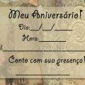 Convite De Aniversario Simples E Bonito