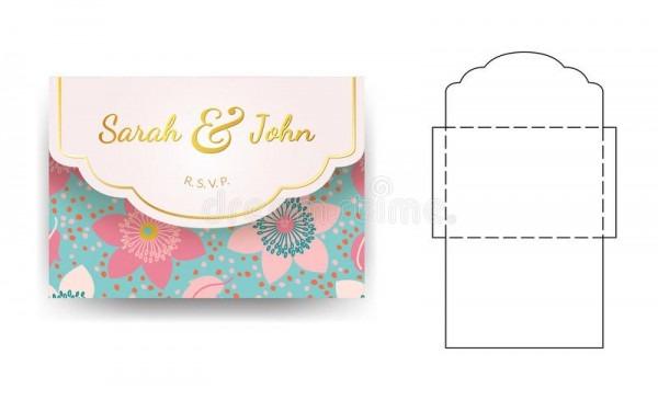 Zombaria Cortada Cartão Do Envelope Acima Do Vetor Do Molde
