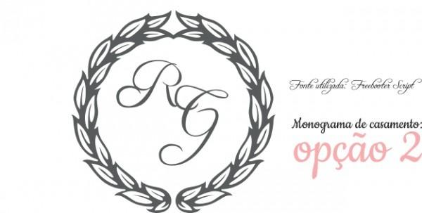 Download  Monogramas Gratuitos Para O Seu Convite De Casamento