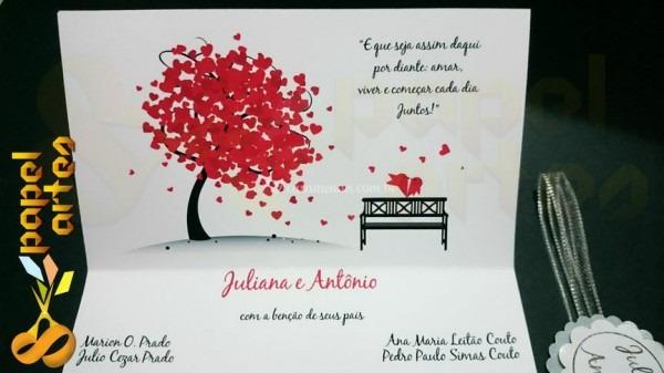 Convite Coração De Papel Artes Papelaria