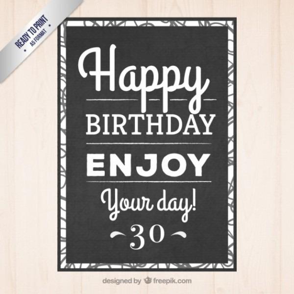 Preto Convite Do Aniversário Tipográfico