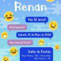 Convite Aniversario Emoji