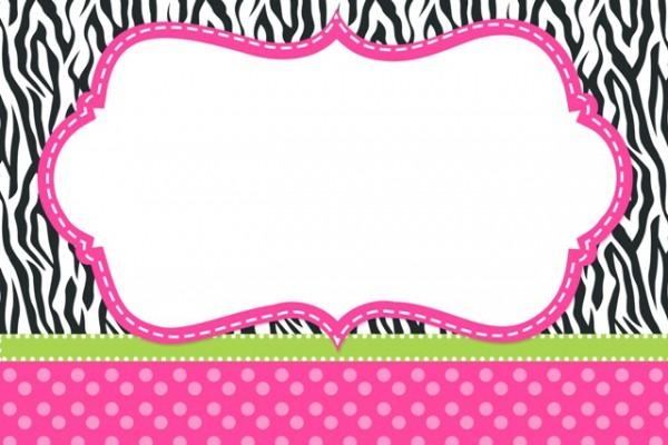 Kit Digital Completo Fundo Zebra E Poá Rosa!
