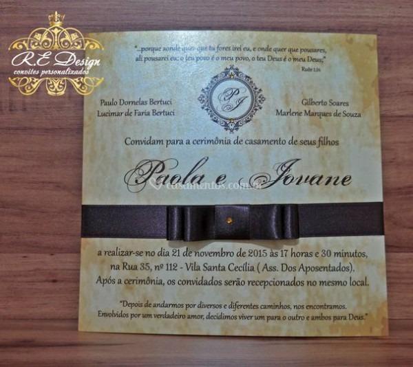 Convite Para Casamento De R E Design