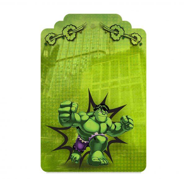Convite Hulk Grátis Para Editar E Imprimir