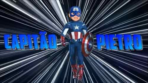 Vídeo Convite Virtual Digital Animado Capitão América