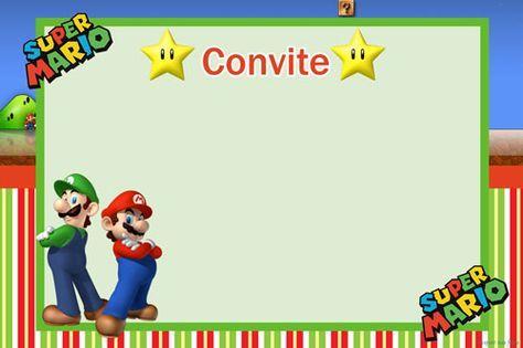 Convite Super Mario 414 Png Grátis Para Baixar Jpg,png