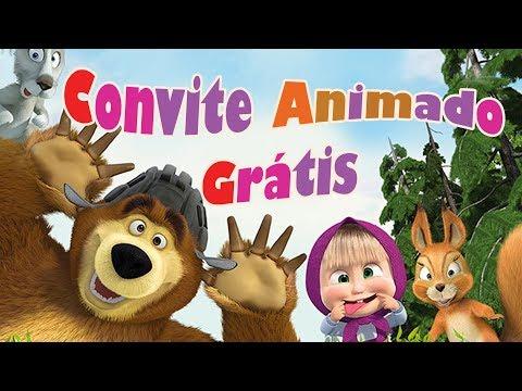 Convite Animado Masha E O Urso Grátis ~ Sua Festa Digital