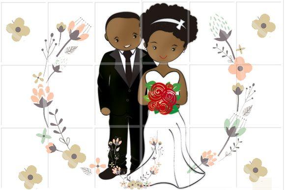 Casal De Noivinhos Criados Para Personalização De Lembranças Para