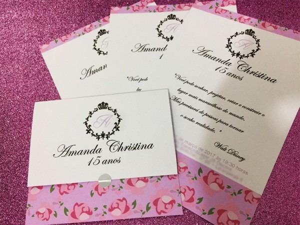 100 Convites 15 Anos Debutante
