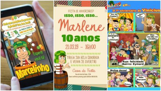 Convite Do Chaves – 26 Modelos Criativos Para Imprimir!