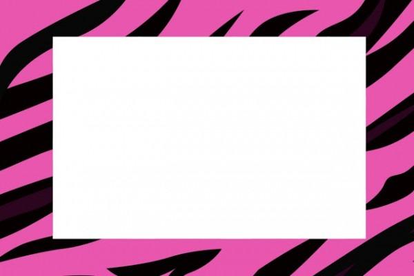Zebra Pink Fundo Limpo