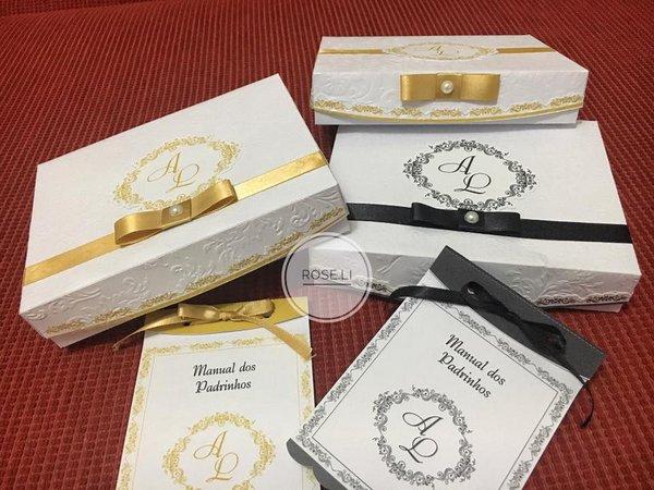 Caixas Com Manual Para Convite De Padrinhos De Casamento