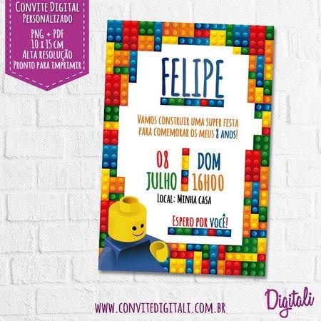Convite Lego