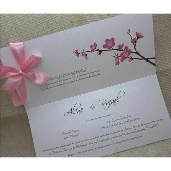 25 Convites De Casamento Artesanais, Modelo Floral