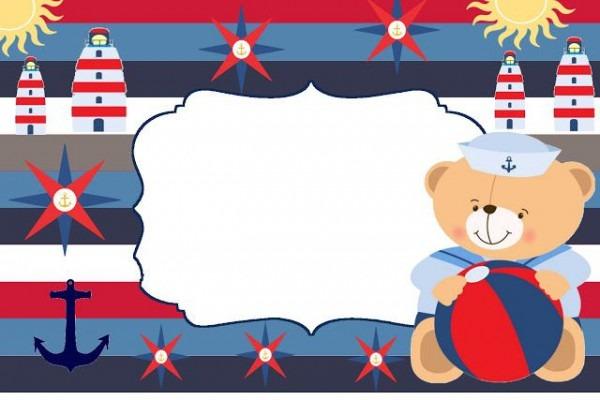 Convites Ursinho Marinheiro