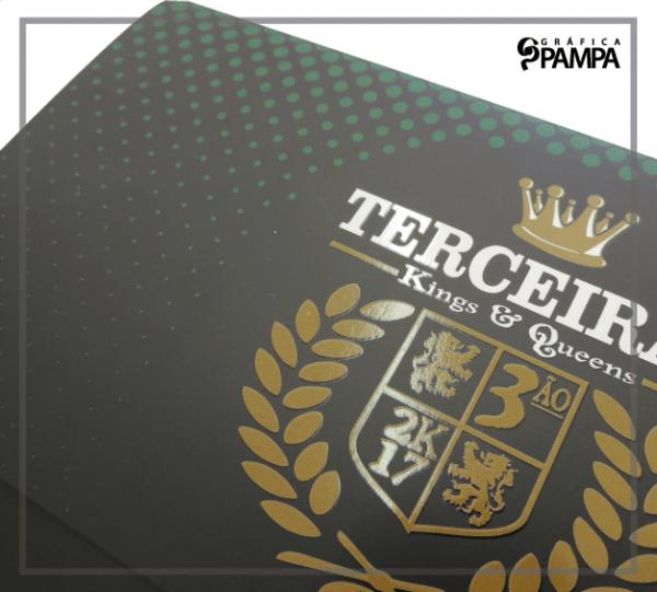 Convite Formatura Ensino Médio Terceirão K&g – Gráfica Pampa