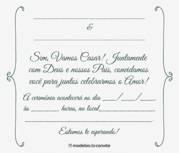 Convites De Casamento Para Imprimir