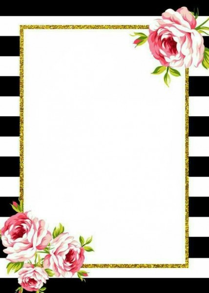 Invite Background  Black White And Pink  Free Printable