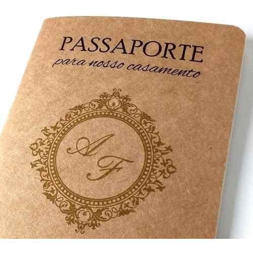 Convites Casamento Passaporte Viagem Artesanal