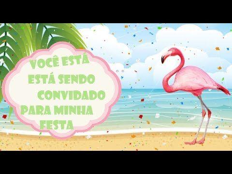 Convite Animado Flamingo Grátis Para Baixar  ❤
