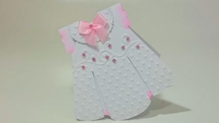 Molde Convite Vestido Baby