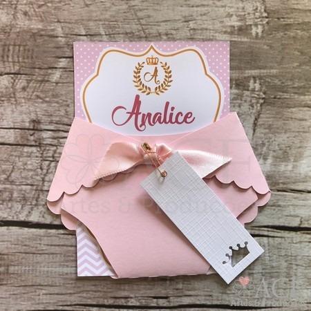 Convite Chá De Bebê Princesa
