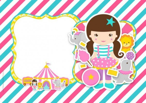 Convite Circo Menina 2