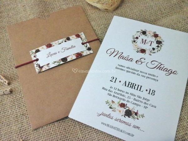 Convite De Casamento Rústico De Convites De Casamento Deluxe