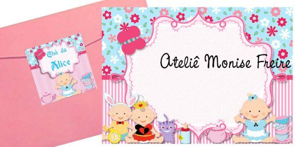 Convite Chá De Bebê Alice No País Das Maravilhas