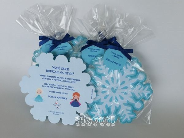 Convite Floco De Neve Frozen    Flavoli Net