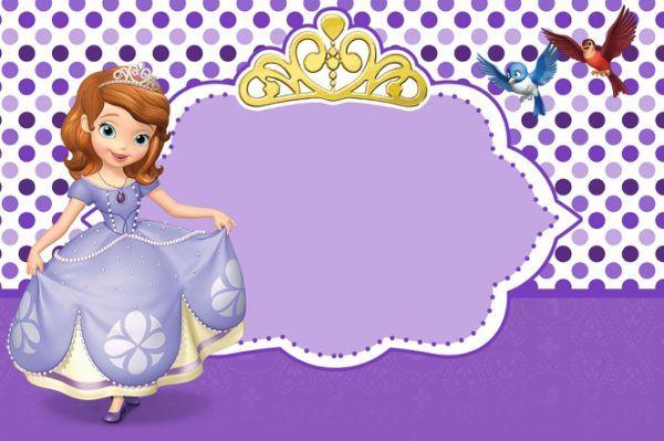 Convite Princesa Sofia Para Editar