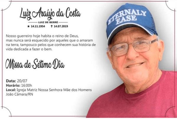 João Câmara  Convite Missa De 7º Dia De Luiz De Berré, Será