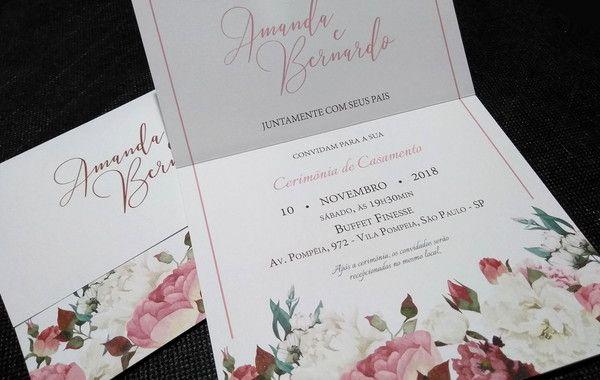 Convite De Casamento Barato Moderno E Elegante