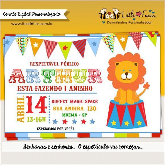 Respeitável Público A Festa Vai Começar  Convite Circo Para