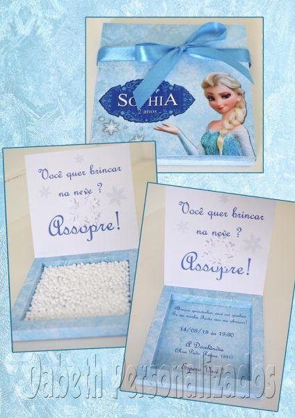 Convite Assopra Frozen