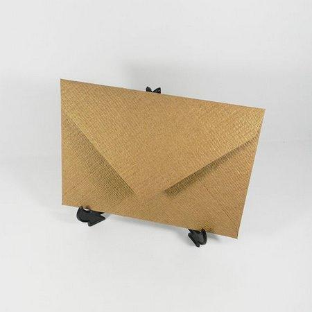 Envelope Para Convite Rustico No Papel Kraft Linhão