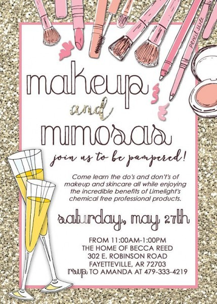 Limelight Makeup Party Invitation  Mary Kay, Lipsense, Consultant