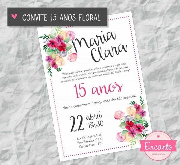 Convite De Aniversario 22 Anos Feminino