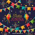 Modelo Convite Festa Junina Colorido