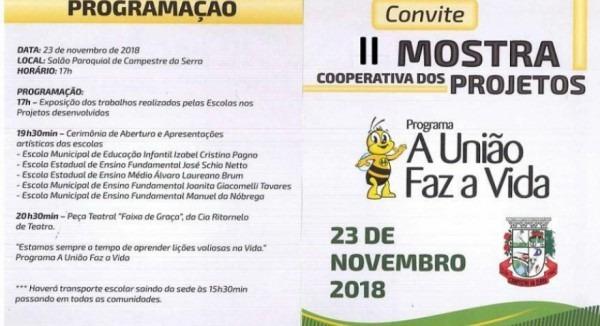 Escolas De Campestre Da Serra Realizam Mostra De Trabalhos