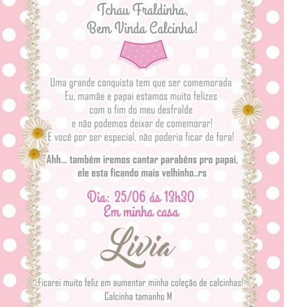 Chá De Desfralde  Mãe Organiza Festa Para Comemorar Conquista Da