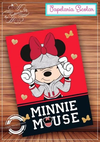 Capa Caderno Minnie No Elo7