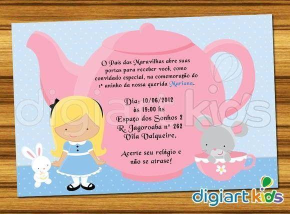 22 Modelos De Convites Da Alice No País Das Maravilhas! – Modelos