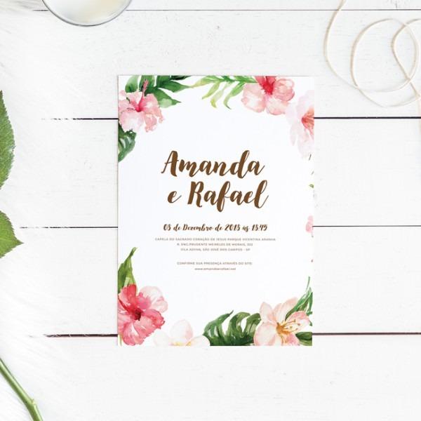 Convite Digital De Casamento Tropical – Studio Pomme